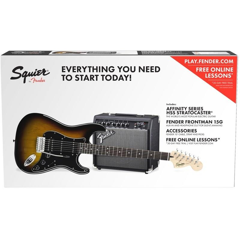 Squier Affinity Stratocaster HSS BSB Fender Frontman 15