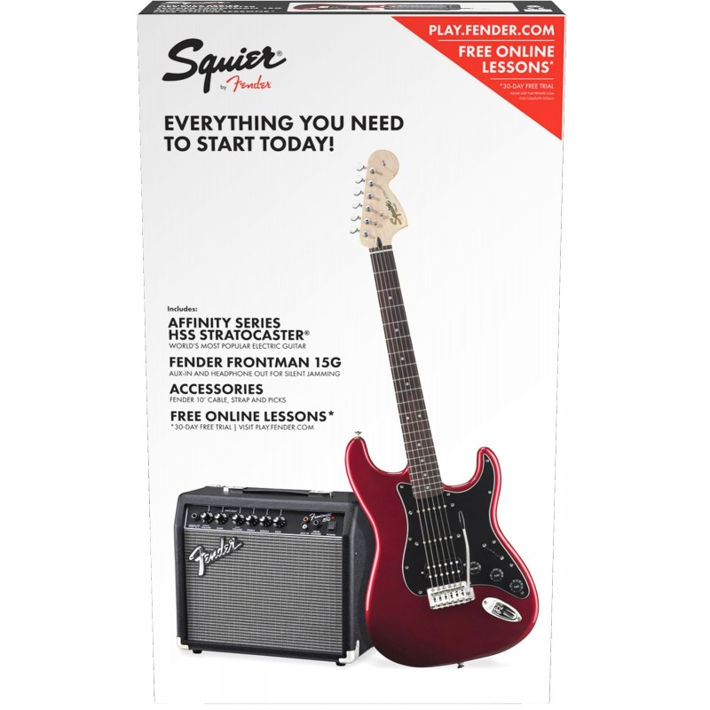Squier Affinity Stratocaster HSS CAR Fender Frontman 15