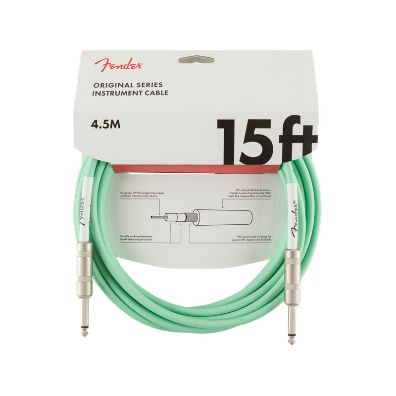 Fender Original Series Instrument Cable 4,5m Surf Green