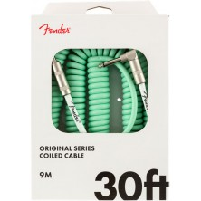 Fender Original Series Coil Cable Straight-Angle 9m Surf Green