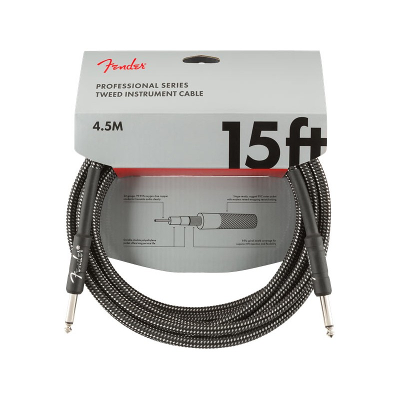Fender Professional Series Instrument Cable 4,5m Gray Tweed