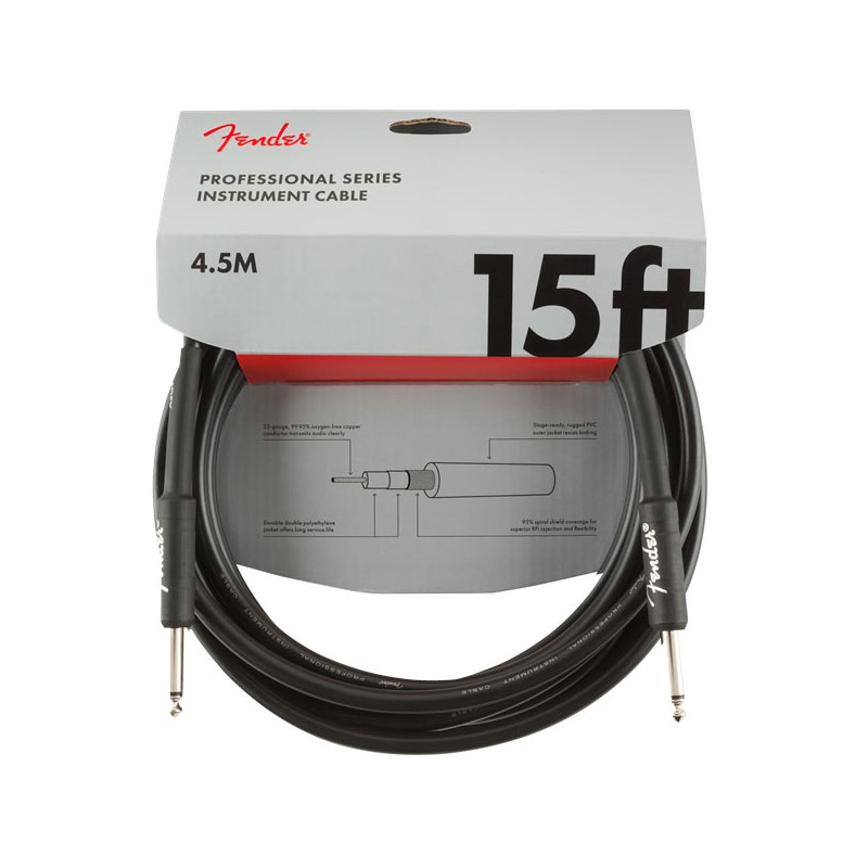 Fender Professional Series Instrument Cable 4,5m Black