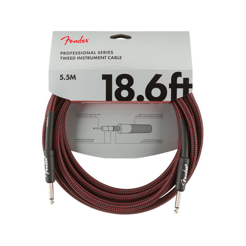 Fender Professional Series Instrument Cable 5,5m Red Tweed