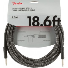 Fender Professional Series Instrument Cable 5,5m Gray Tweed