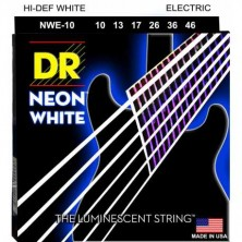 DR Strings NWE-10 Neon White