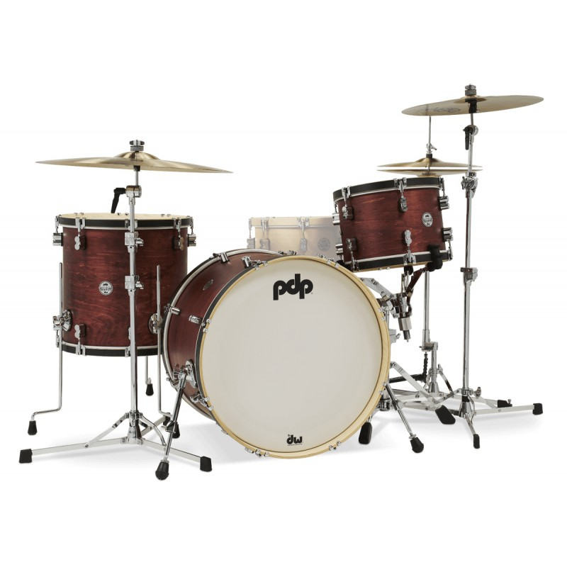 Pdp By Dw Concept Classic 24 Ox Blood Stainl/Ebony Wood Hoop